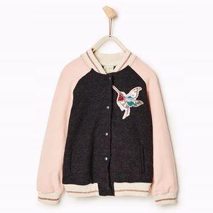 Zara girls jacket with sequined hummingbird